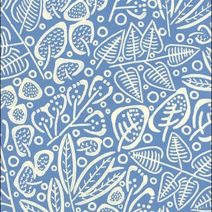 Flora blå/vit