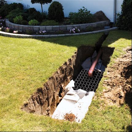 Dagvattensystem för lokalt omhändertagande av regnvatten