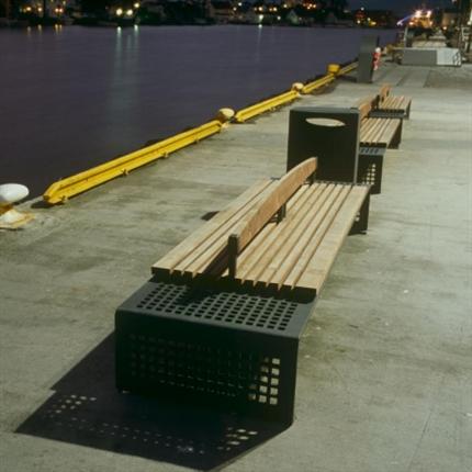 Havn bänk och serviceskåp