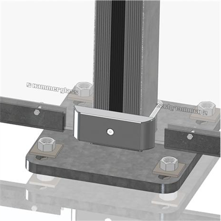 Hammerglass Stolpar  och infästningssystem