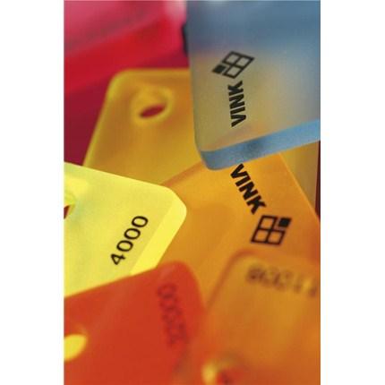 Perspex akryl färgprover