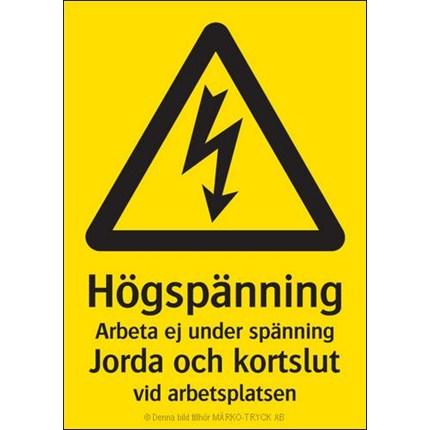 Märko varningsskyltar