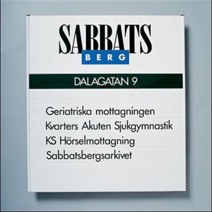 Swedsign våningstavlor Aluline