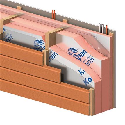 Kooltherm K12 regelisolering  för väggkonstruktion