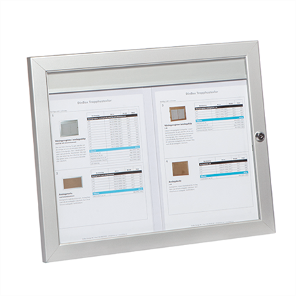 Våningsregister/anslagsskåp med lås och aluminiumram