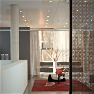 Tex Glass Inredningsglas kombinerat med textil