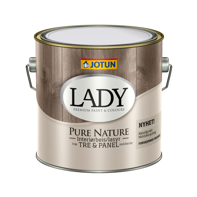 LADY Pure Nature interiörlasur, 3 liter