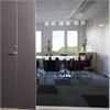 Vitrum Glasvägg Logic System med dörr Portal grafitgrå
