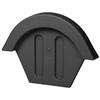 Vilpe nockavslut för betongpannor,svart