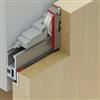 Häfele Slido Design 40-V till 80-V för trädörrar och glasdörrar