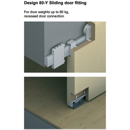 Häfele Slido Design 80-Y för trädörrar