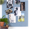 Akustikmiljö Collage anslagstavla, ljusabsorbent med vit ram