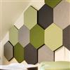 Akustikmiljö Honey väggabsorbenter i olika tjocklekar på vägg