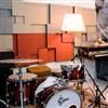 Akustikmiljö NIVÅ väggpaneler i musikstudio