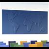 Akustikmiljö TELL-US ljudabsorberande världskarta, blå