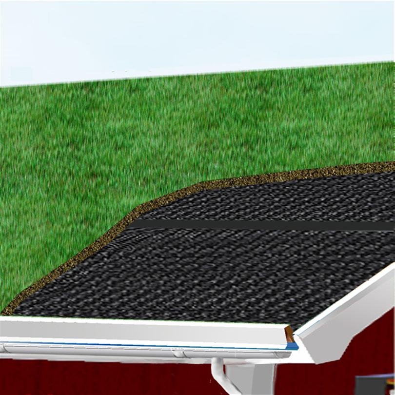 Delta Black Line fuktspärrmatta på gröna tak