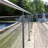 Vetropro glasräcke Design, golvmonterat