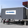 Ki-Panel kyl-/fryscontainer placerad mot lastbrygga