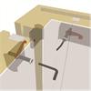 Huurre modulrum, montering av hörnpanel