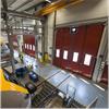 Reco Duo vikportar med urtag för lokens spänningsledning, Lokstallet i Falköping