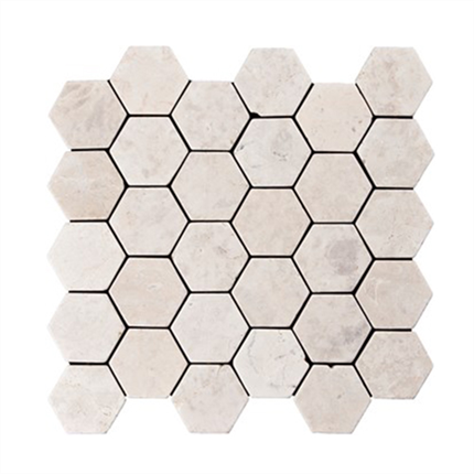 Konradssons Indostone, vit hexagon mosaik