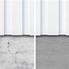 Sockelskiva av krossad natursten, före och efter