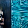 Blå fasadskivor, mönstrad fasad