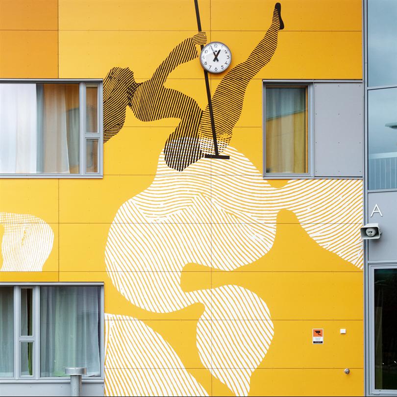 STENI Vision fasadskiva, Nikkilän Sydän