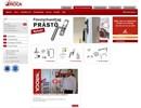 Fönsterhandtag på webbplats
