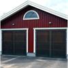 AJAB slagportar för garage med träbeklädnad