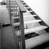 AJAB Smide trappa med steg av perforerad plåtdurk