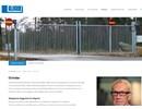 Skjutgrindar på webbplats