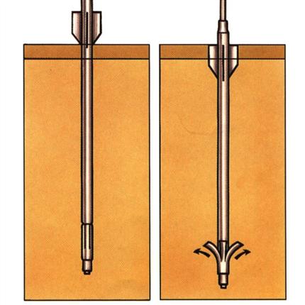 Illustration av jordankare i olika dimensioner och fästen