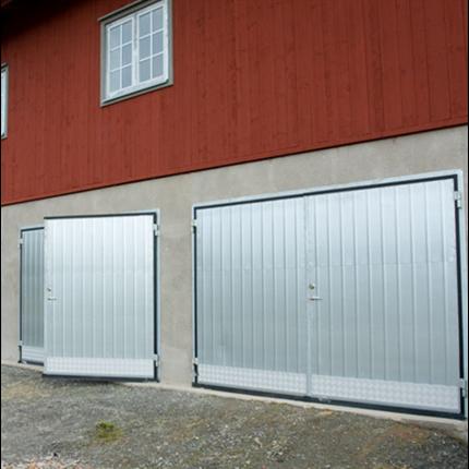 AJAB galvaniserade slagportar, sparkplåt av aluminiumdurk
