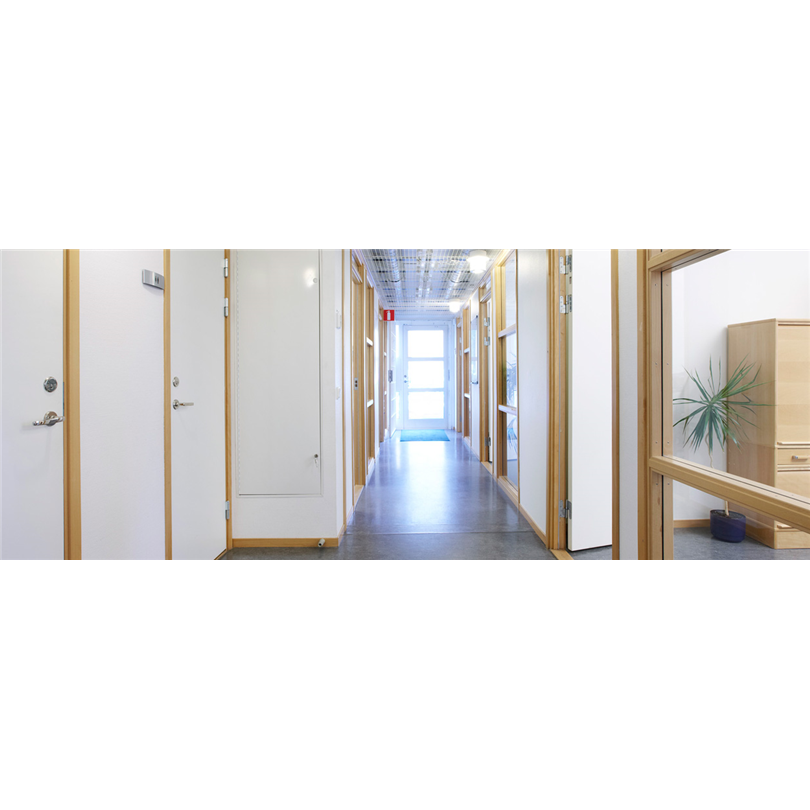 Temporent modulbyggnader kontor KUBIK, korridor