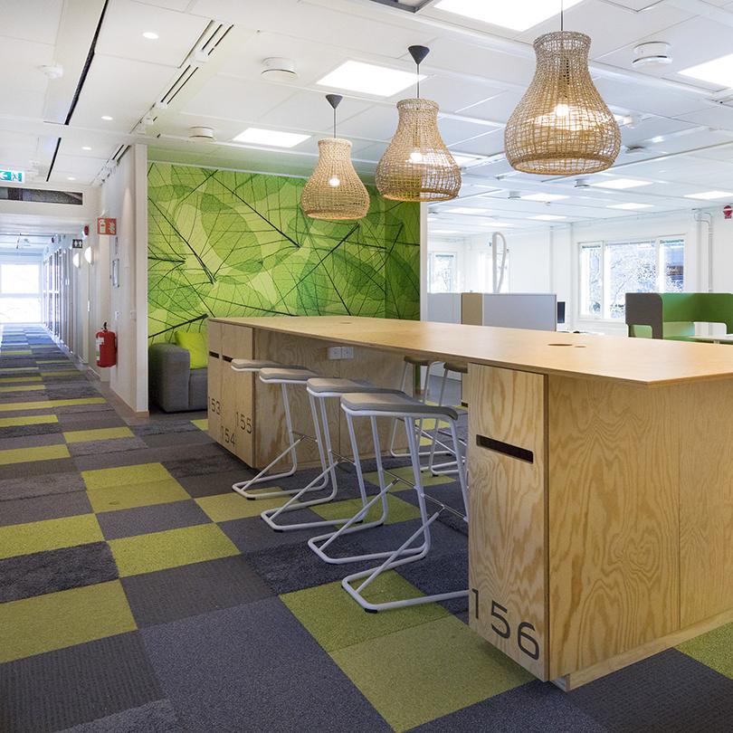 Temporent RYMD kontor, öppen mötes-/matplats