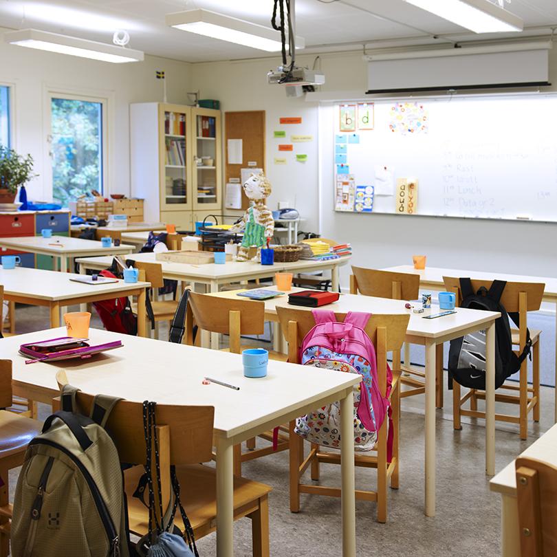 Temporent skolomoduler KLOSS, klassrum