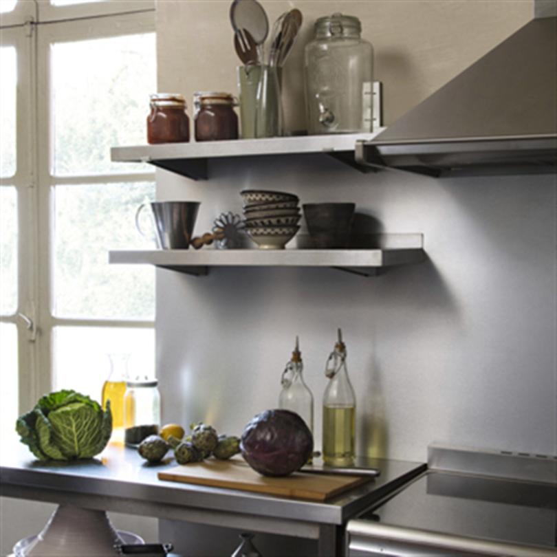 BerryAlloc Kitchen Wall, borstad aluminium