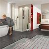 T2Röd värmekabel i badrum