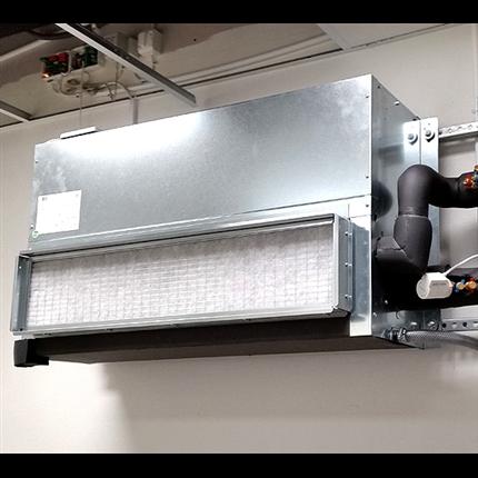 LGG Mega Power fläktkonvektor på vägg