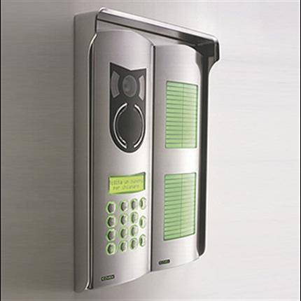 Elvox Porttelefon 2-tråd DueFili, Rostfri 1200-serien