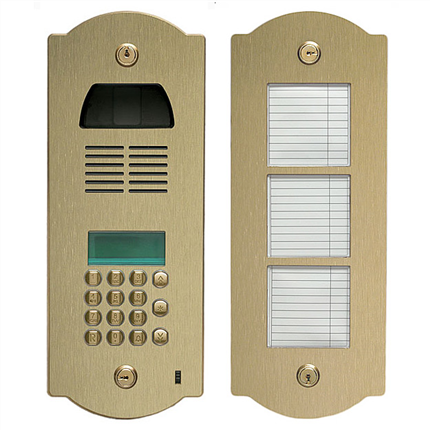 porttelefon av solid mässning, digitalt bussystem
