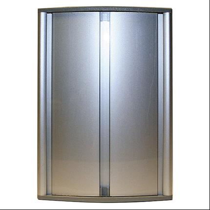 Porttavla med aluminiumram och okrossbart skyddglas, namntavla