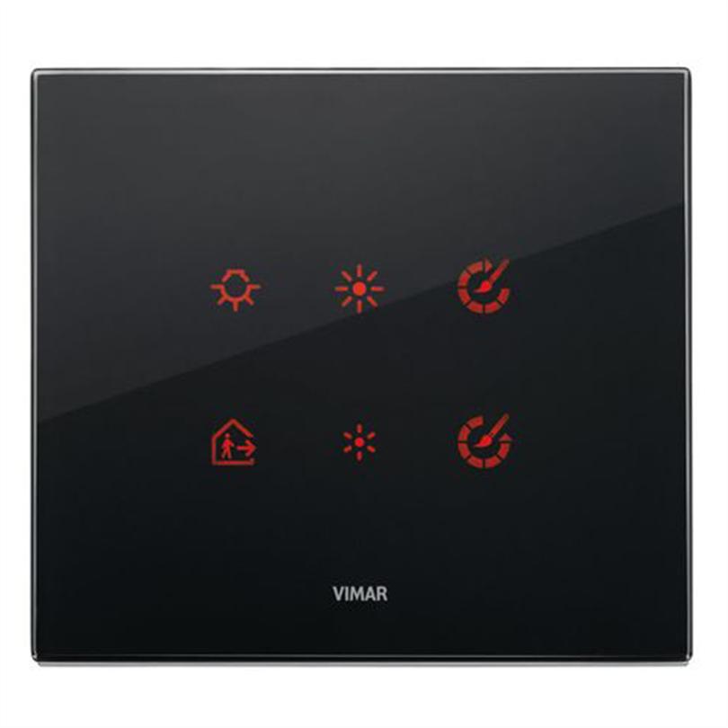 Vimar Eikon Tactil strömställare, svart