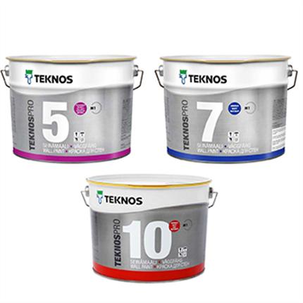 TeknosPro 5, 7, 10 tak- och väggfärg