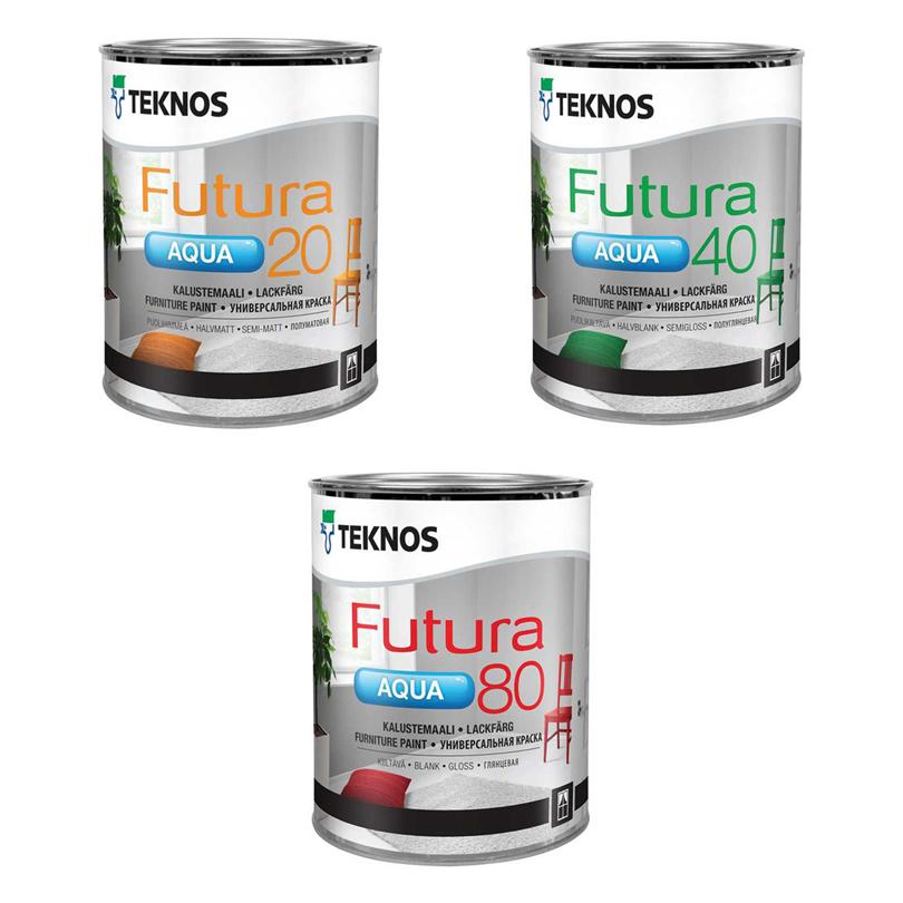 Teknos Futura Aqua 20, 40, 80 lackfärg