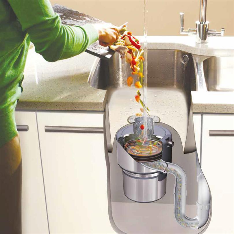 InSinkErator avfallskvarnar, princip