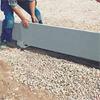 Sockelelement med ytskikt av borstad betong