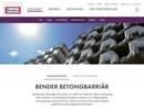 Betongbarriärer på webbplats