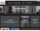 Byggsystem Fasadväggar på webbplats